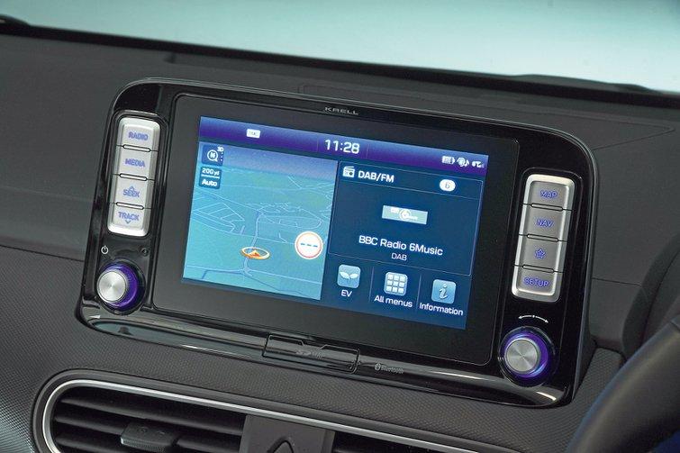 Hyundai Kona infotainment