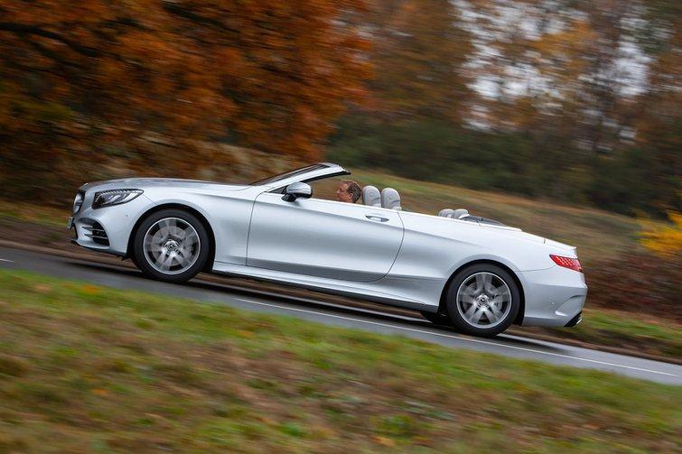 Mercedes-Benz S Class Cabriolet 2019 side left tracking shot