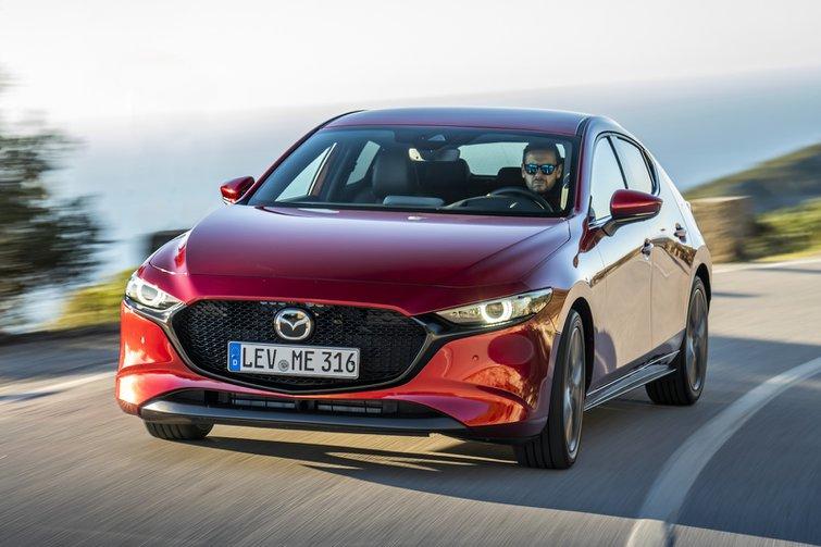 2019 Mazda 3 Cornering Front