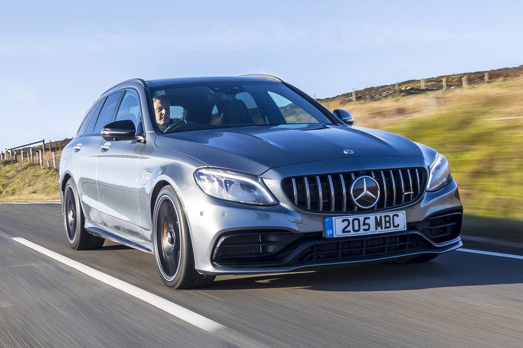 Mercedes-AMG C63 Estate front three-quarters driving