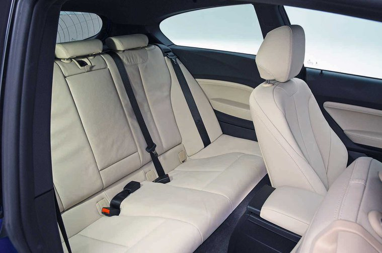 BMW M140i rear seats