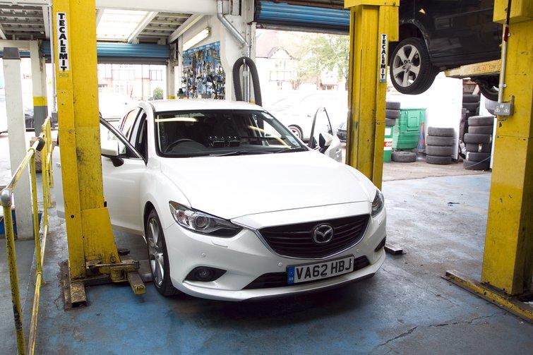 Mazda at servicing centre