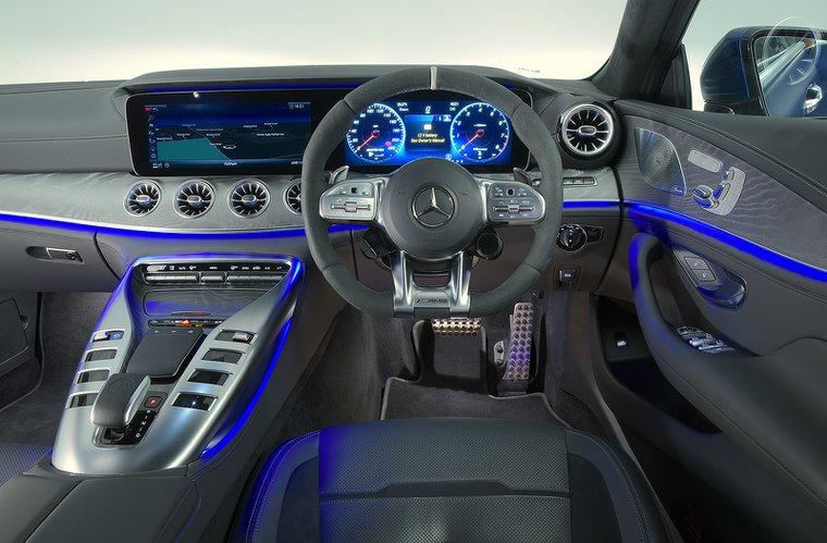 Mercedes AMG GT 4dr interior