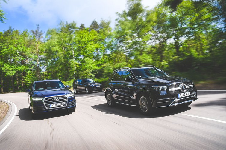 New Mercedes-Benz GLE vs Audi Q7 vs Land Rover Discovery