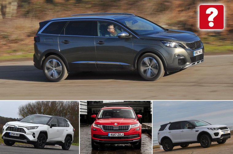Peugeot 5008, Toyota RAV4, Skoda Kodiaq, Land Rover Discovery Sport