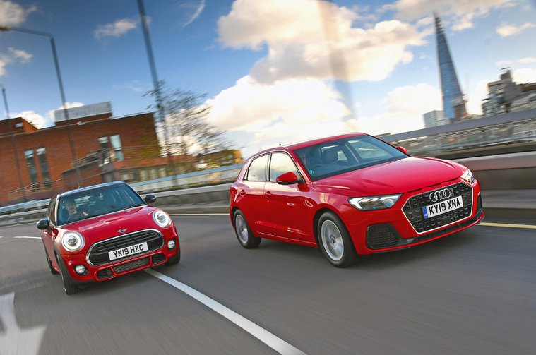 Audi A1 and Mini hatch