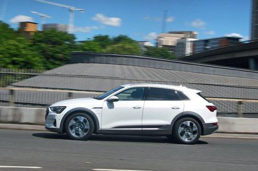 Audi E-tron driving