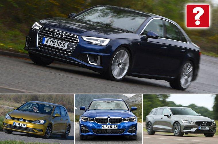 Audi A4, Volkswagen Golf, BMW 3 Series, Volvo V60