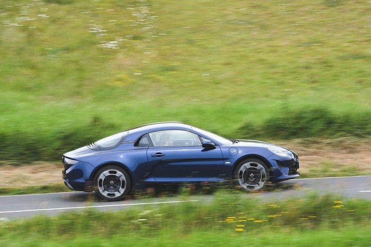 Alpine A110 driving