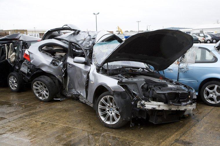 Crashed BMW 5 series Touring