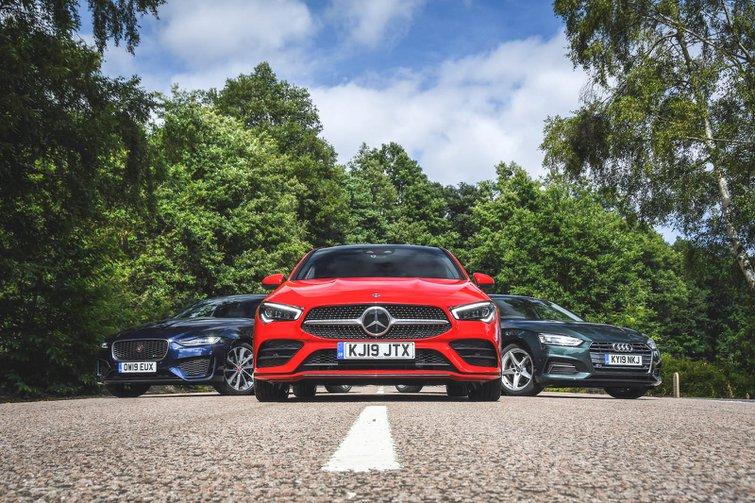 New Jaguar XE & Mercedes CLA vs Audi A5 Sportback