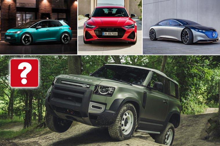 Volkswagen ID 3, Audi RS7, Mercedes EQS, Land Rover Defender