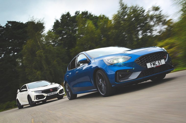 Ford Focus ST and Honda Civic Type R