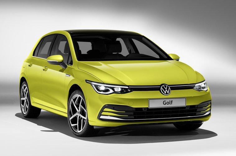 Volkswagen Golf Mk8 front studio