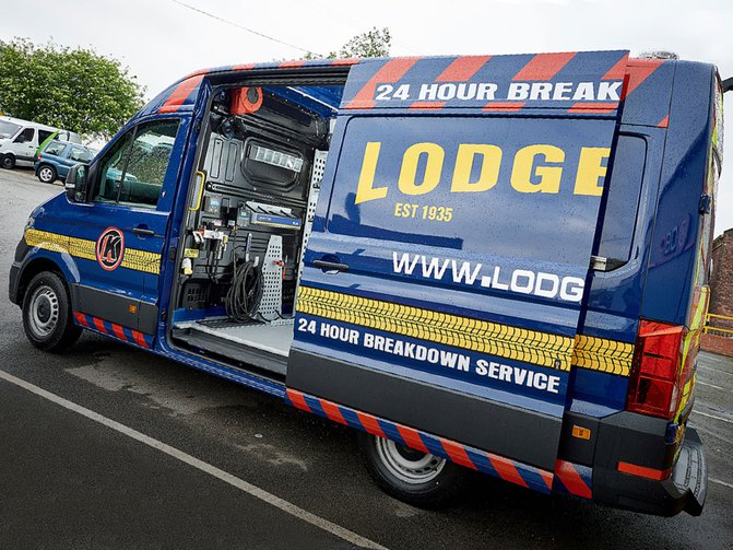 With 300 uniquely customised vans, commercial tyre-fitting company Lodge Tyre faces some unique challenges
