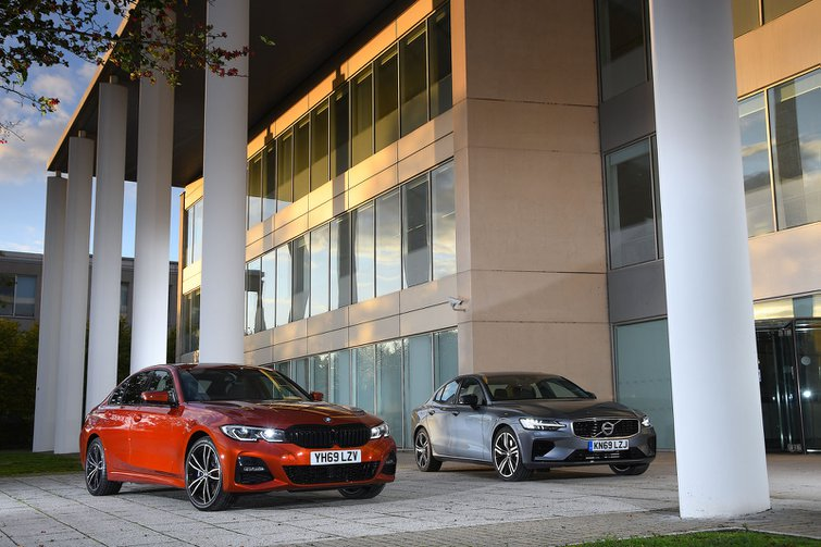 New BMW 330e vs new Volvo S60