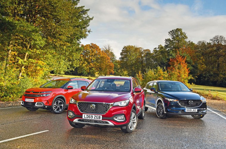 New MG HS vs Citroen C5 Aircross vs Mazda CX-5