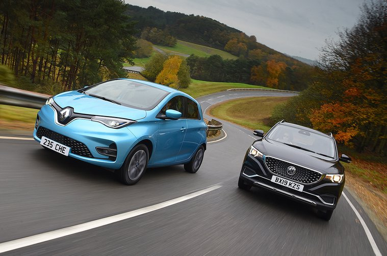 New MG ZS EV vs new Renault Zoe