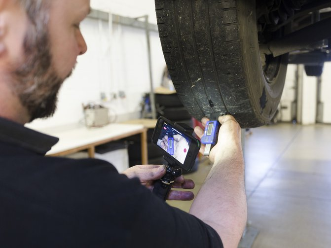 Van Centre technicians also provide customers with a video that lets them see areas of concern, without having to duck their head under the vehicle themselves.