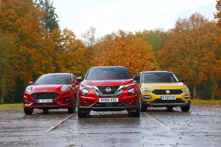 New Ford Puma & Nissan Juke vs Volkswagen T-Roc