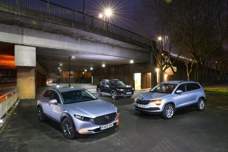 New Mazda CX-30 vs MG ZS EV vs Skoda Karoq