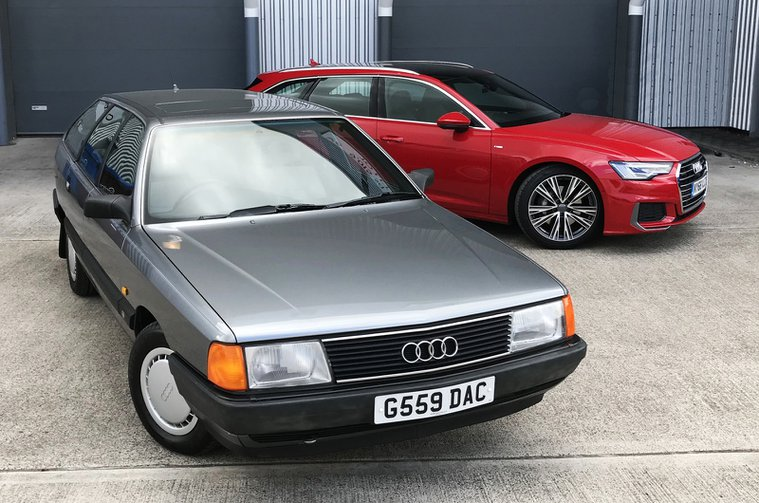 Audi 100 Avant with Audi A6 Avant