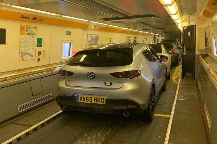 Channel Tunnel mazda 3