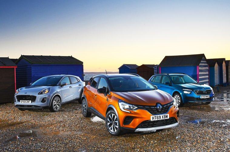 New Renault Captur vs Ford Puma vs Skoda Kamiq