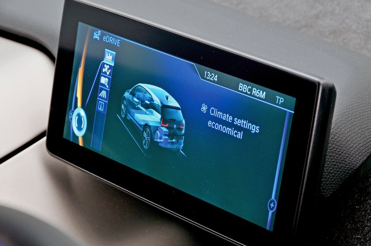 BMW i3 infotainment screen