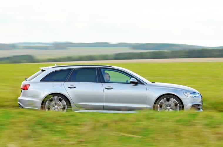 Audi A6 Avant side - 66 plate