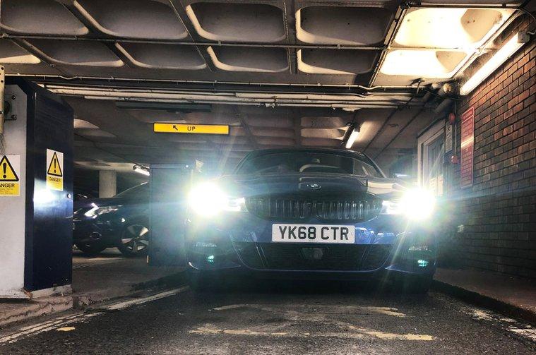 BMW 3 Series in multi-storey car park
