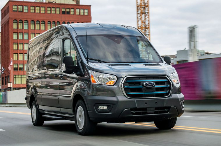 2021 Ford E-Transit front