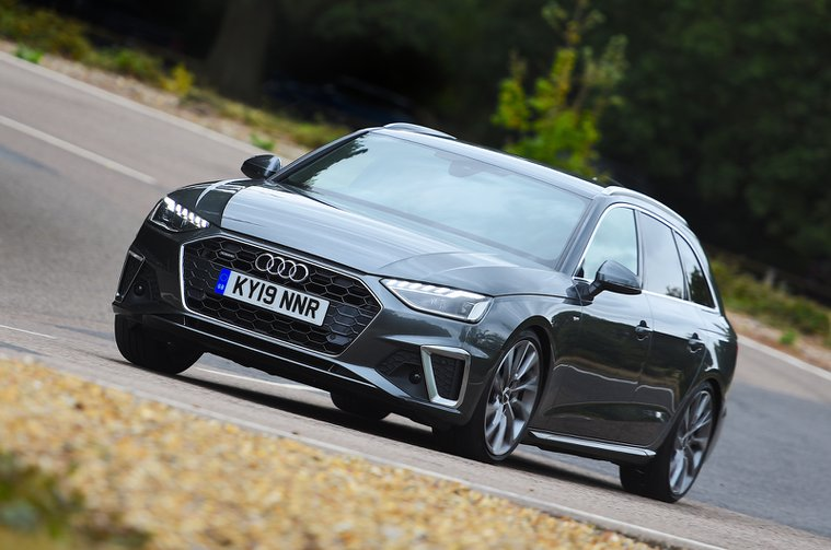Audi A4 Avant front cornering