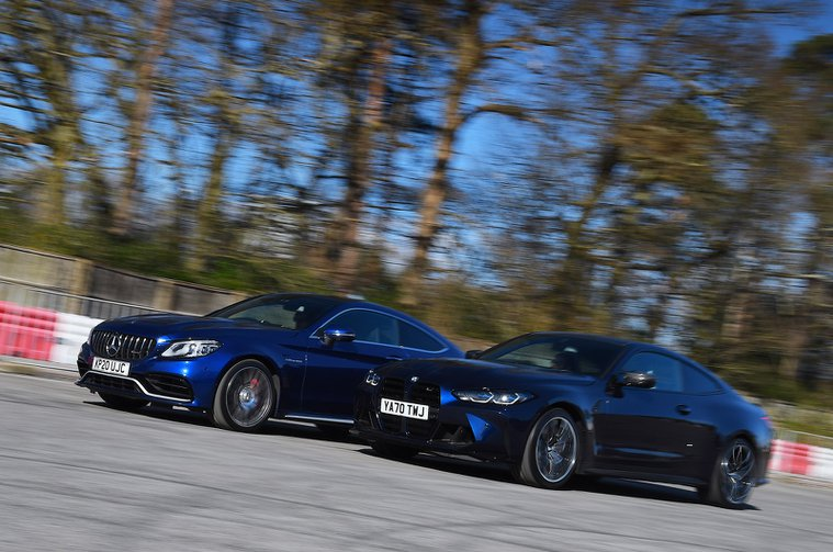 BMW M4 vs Mercedes-AMG C63 S Coupe fronts