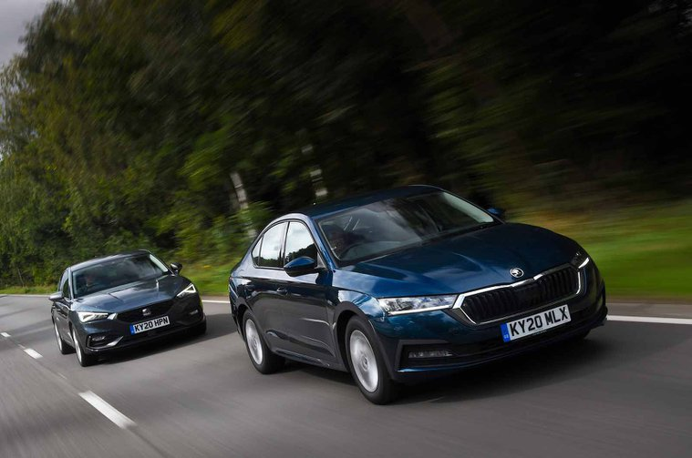 Seat Leon and Skoda Octavia fronts