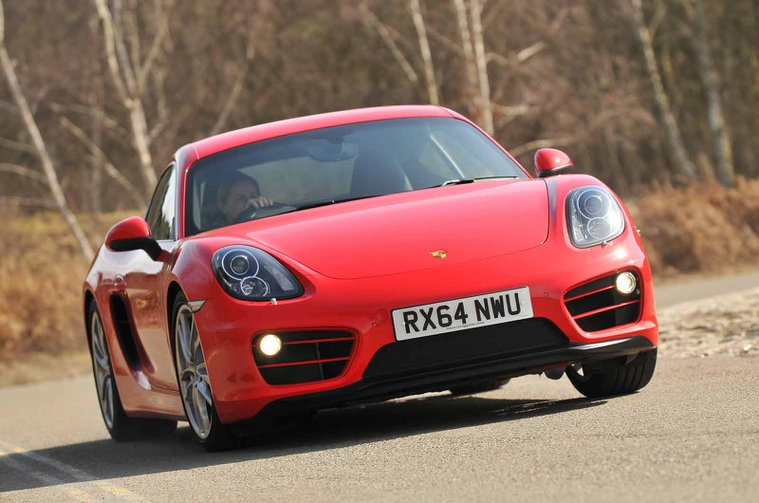 Used Porsche Cayman front