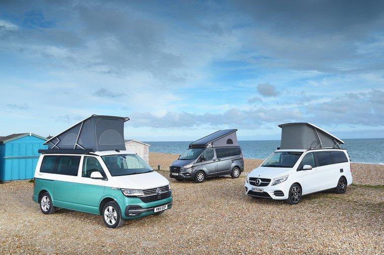 Camper van comparison test fronts