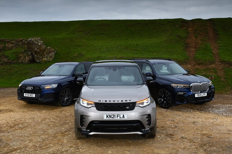 New Land Rover Discovery vs Audi Q7 vs BMW X7 noses