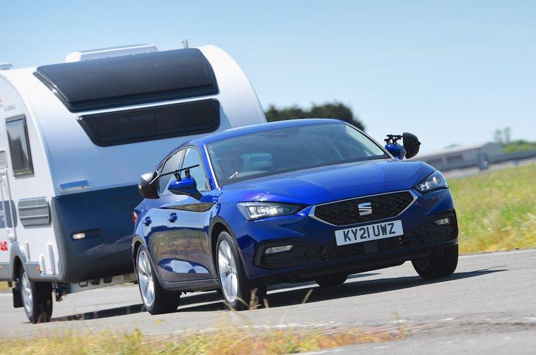 Seat Leon towing caravan