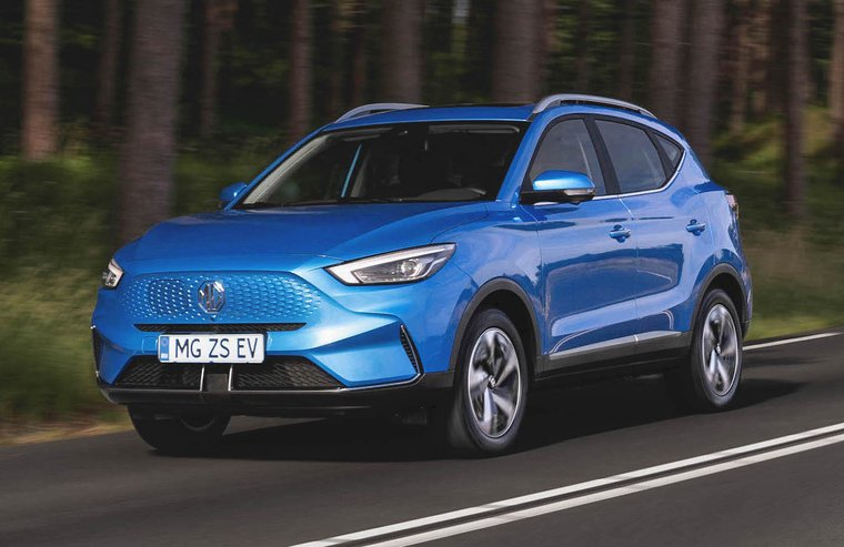MG ZS EV 2022 Front Driving