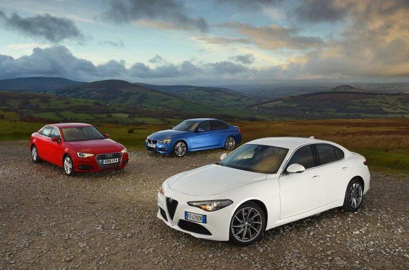 Alfa Romeo Giulia, Audi A4 and BMW 3 Series