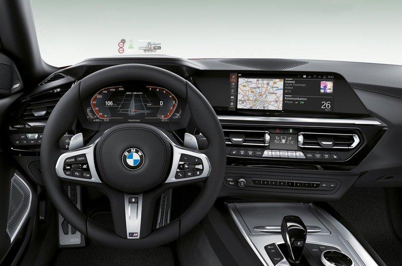 2019 BMW Z4 dashboard