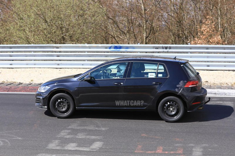 New Volkswagen Golf spy shot side