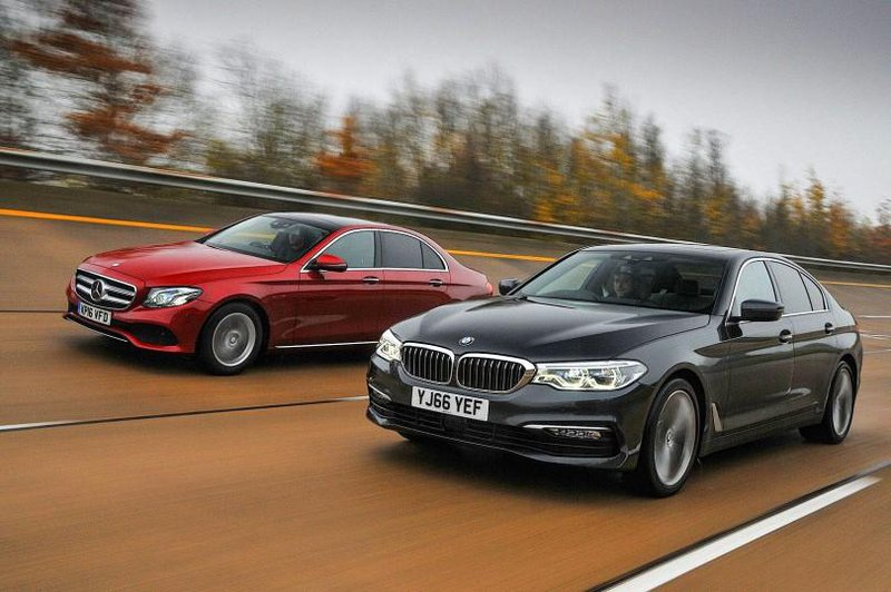 BMW 5 Series and Mercedes E-Class