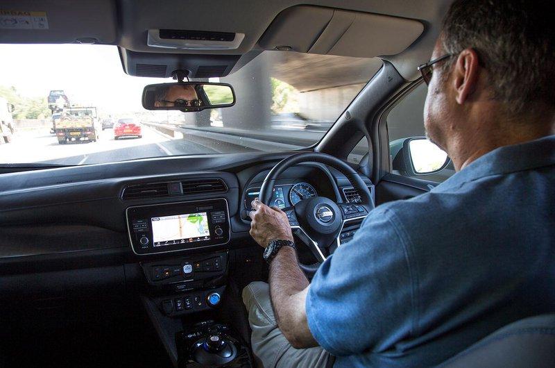 Nissan Leaf on the motorway