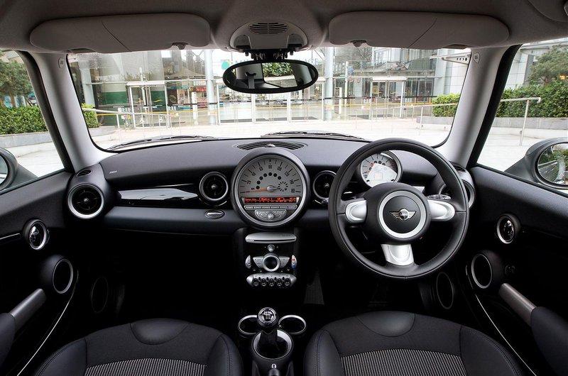 Mini hatchback interior