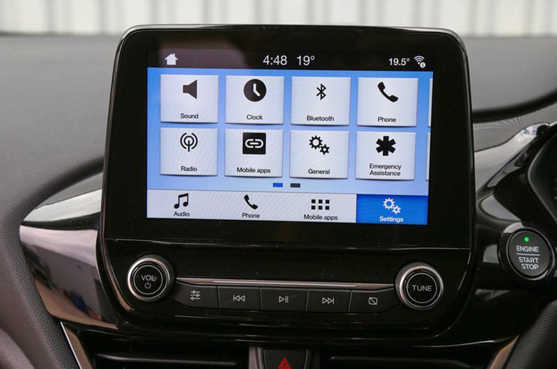 Ford Fiesta infotainment screen