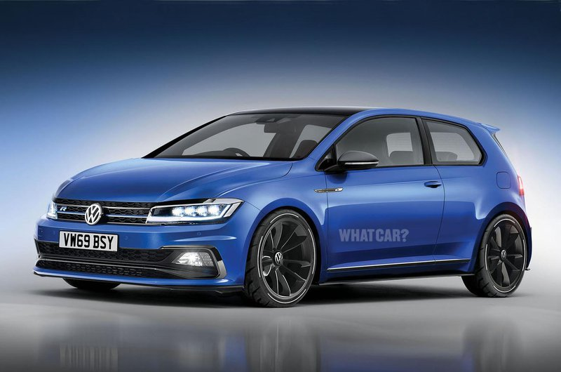 New Volkswagen Golf R front