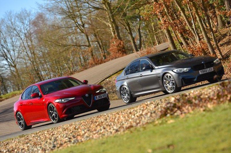 Alfa Romeo Giulia Quadrifoglio and BMW M3