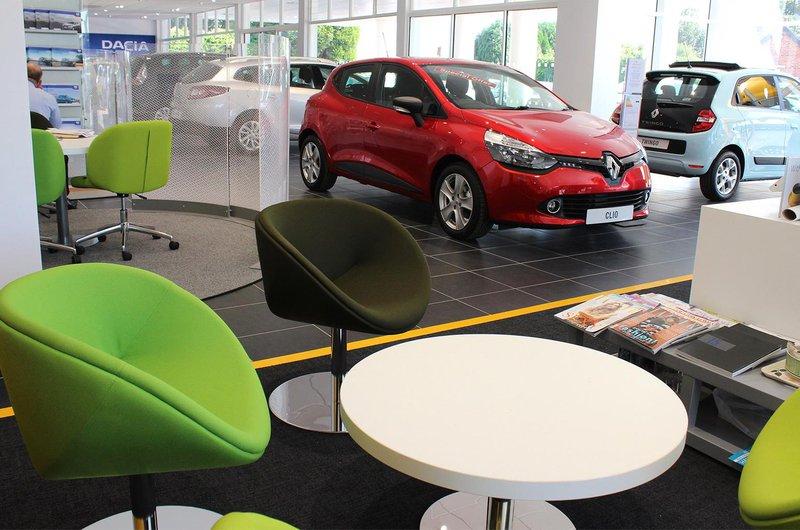Dacia new car showroom